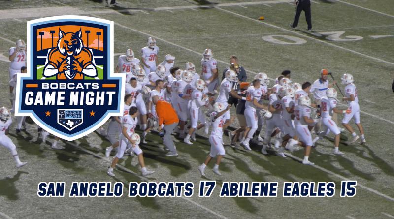 BOBCATS GAME NIGHT: Central Bobcats 17, Abilene Eagles 15 – 10/12/18