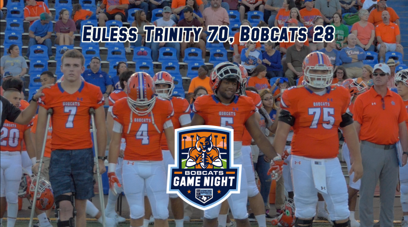 Bobcats Game Night- Euless Trinity 70, San Angelo Central 28 – 10/5/18