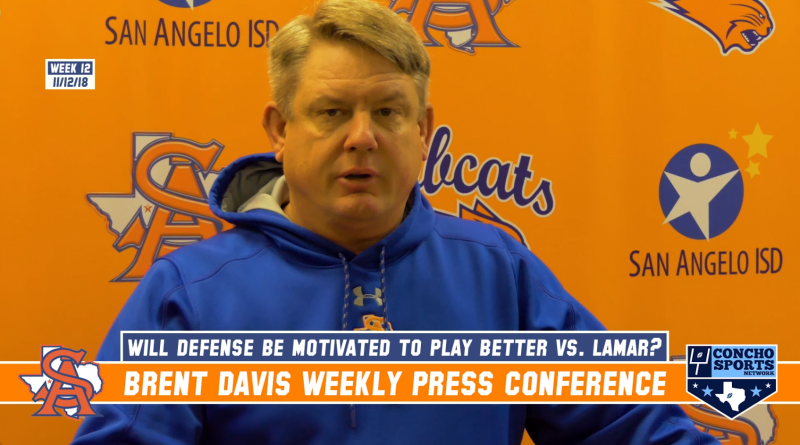 Central Bobcats Head Coach Brent Davis week 12 press conference