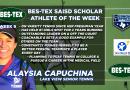 Lake View Tennis Player Alaysia Capuchina – BES-TEX SAISD Scholar Athlete of the Week   10/24/20