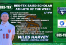 Congratulations to the BES-TEX SAISD Scholar Athlete of the Week – Central Soccer Defender Miles Harvey | 2/14/21